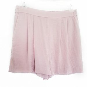H&M shorts pressed rose pink pleated flare fit EUC